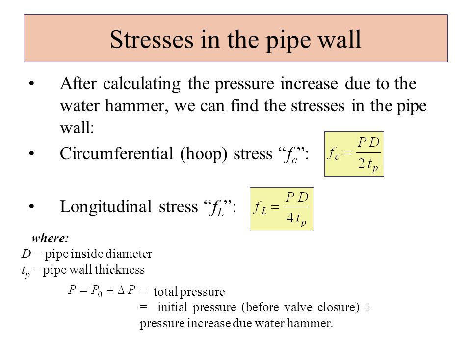 how to find pressure in a pipe
