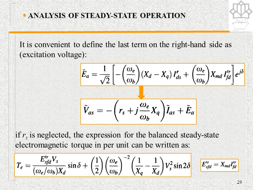 ANALYSIS OF STEADY-STATE OPERATION