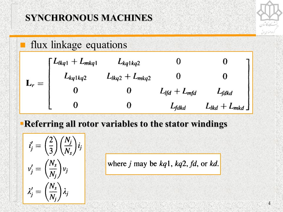 flux linkage equations