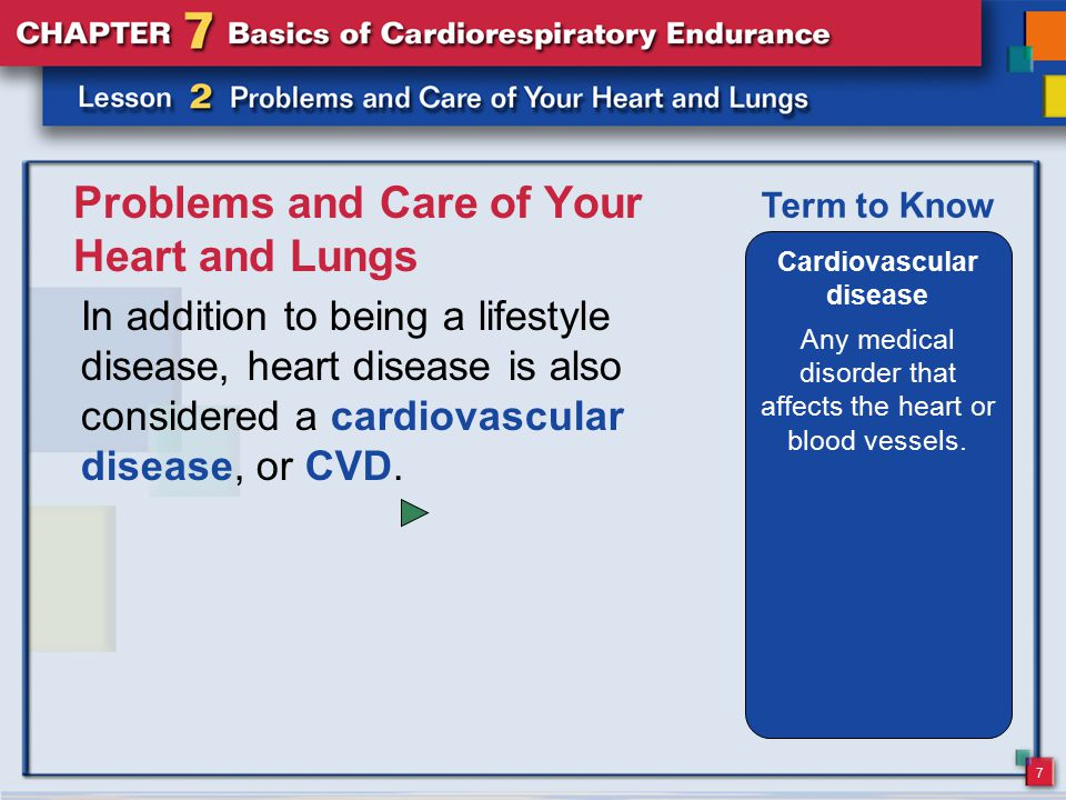 Problems and Care of Your Heart and Lungs