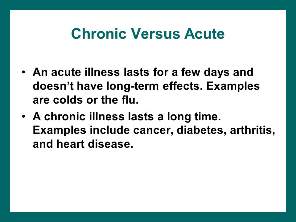 Chronic Diseases Ppt Download