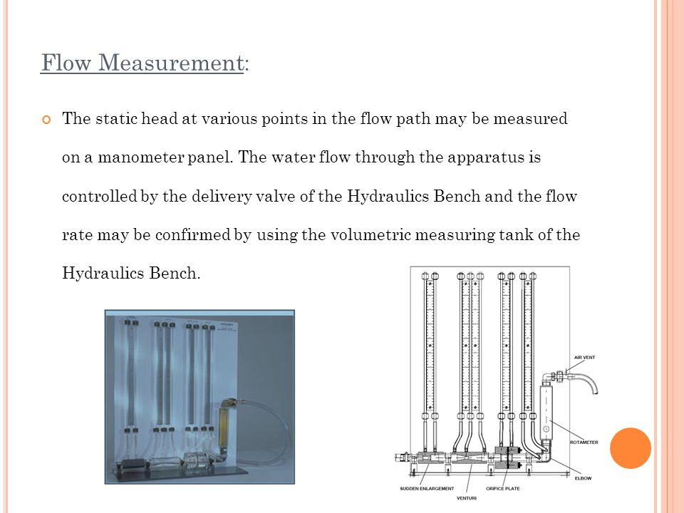 pipe flow experiment Friction losses for laminar flow in pipes objective: to understand the principles involved in calculating head loss and flow rates for schematic of experiment.