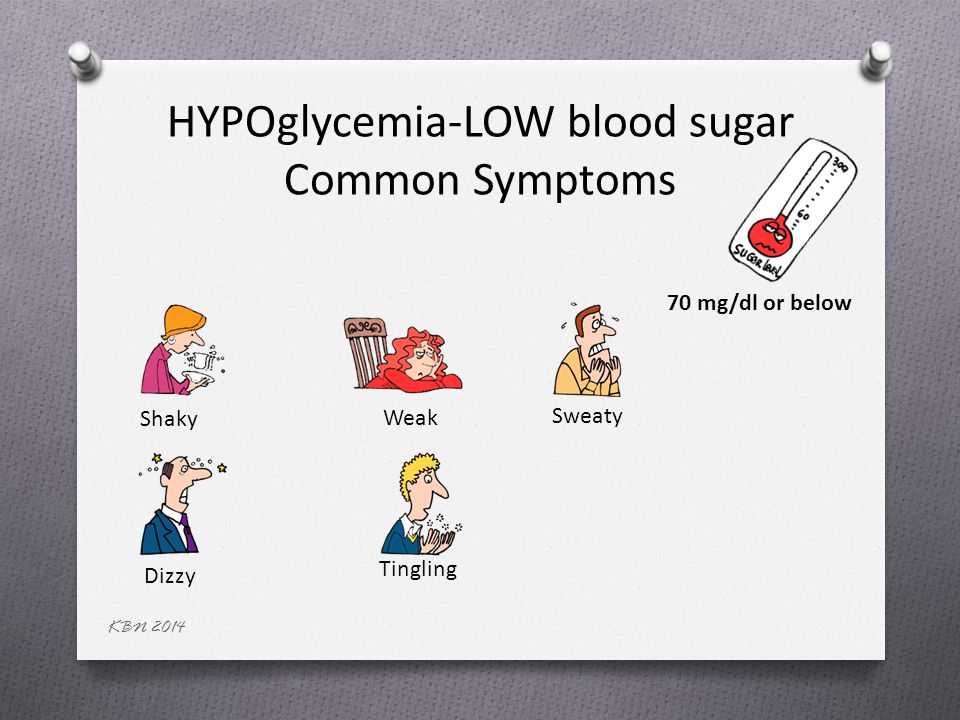 Dizziness and hypoglycemia