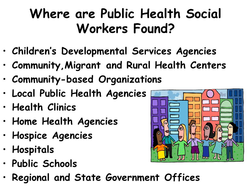 Where are Public Health Social Workers Found