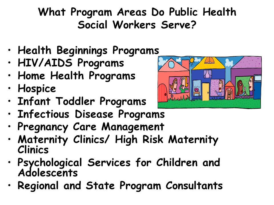 What Program Areas Do Public Health Social Workers Serve
