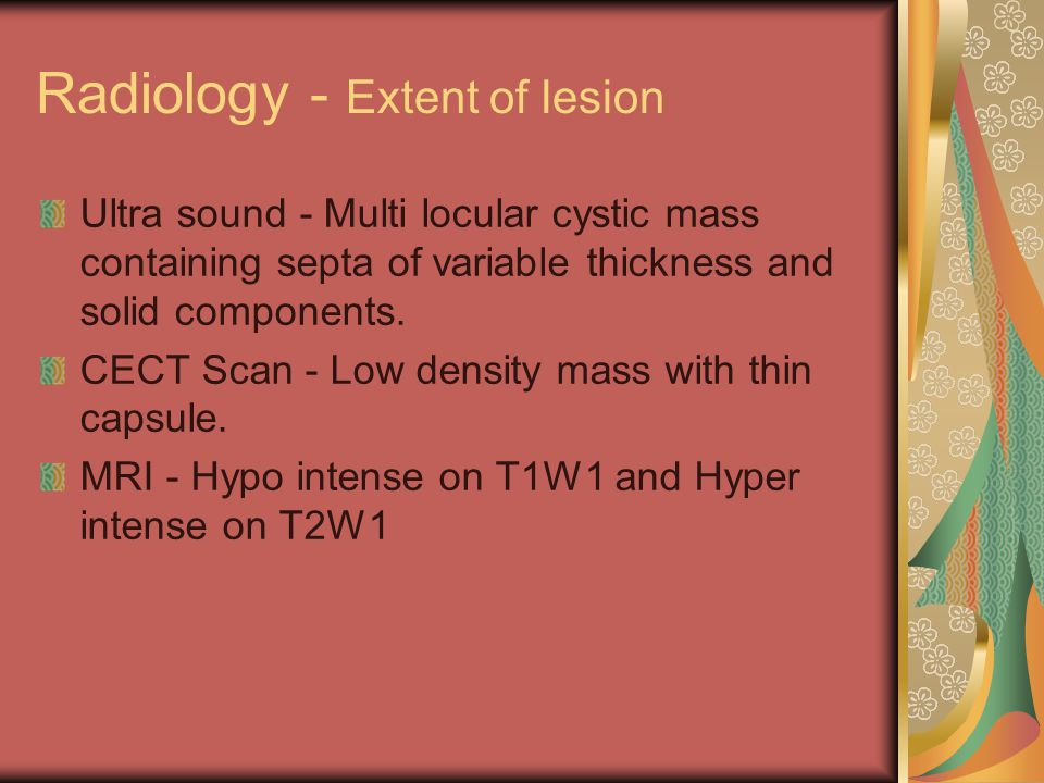 Radiology - Extent of lesion