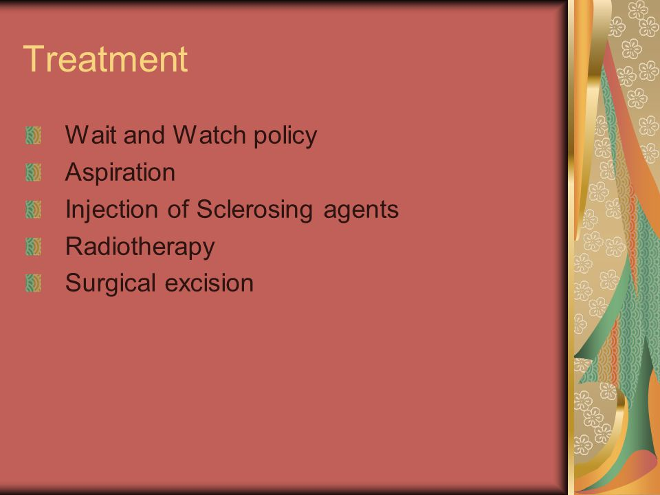 Treatment Wait and Watch policy Aspiration