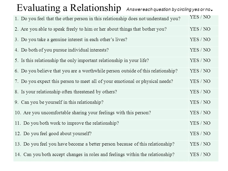 question and answer to ask in a relationship