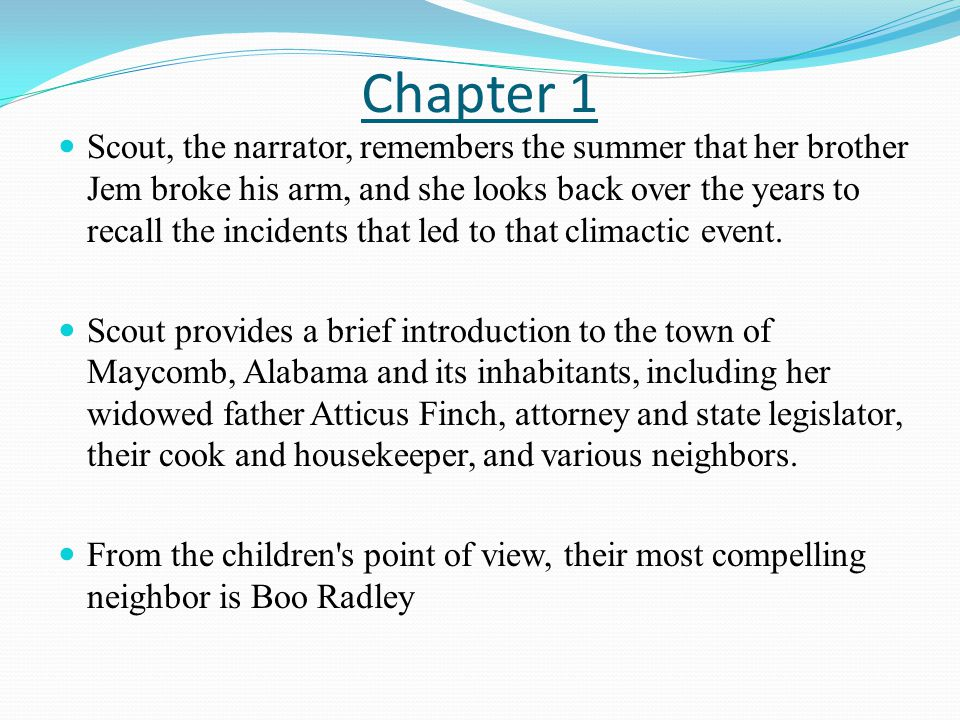 To kill a mocking bird chapter 1