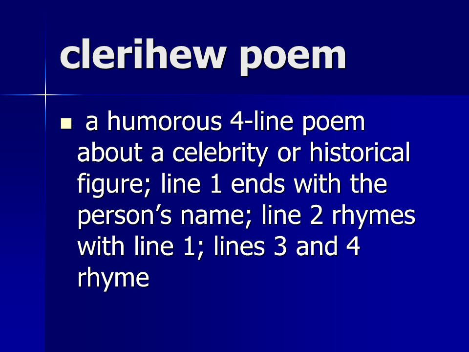 clerihew poem