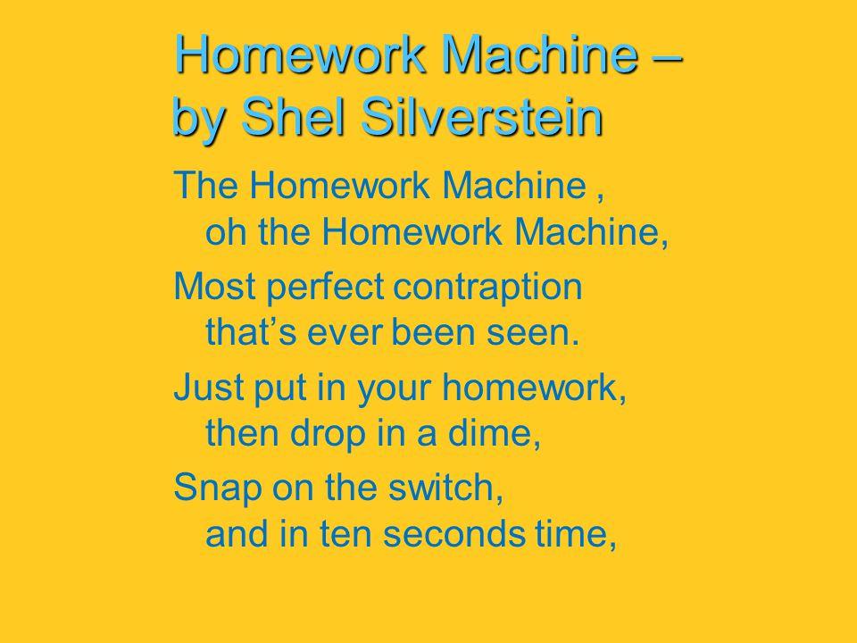 Homework oh homework shel silverstein