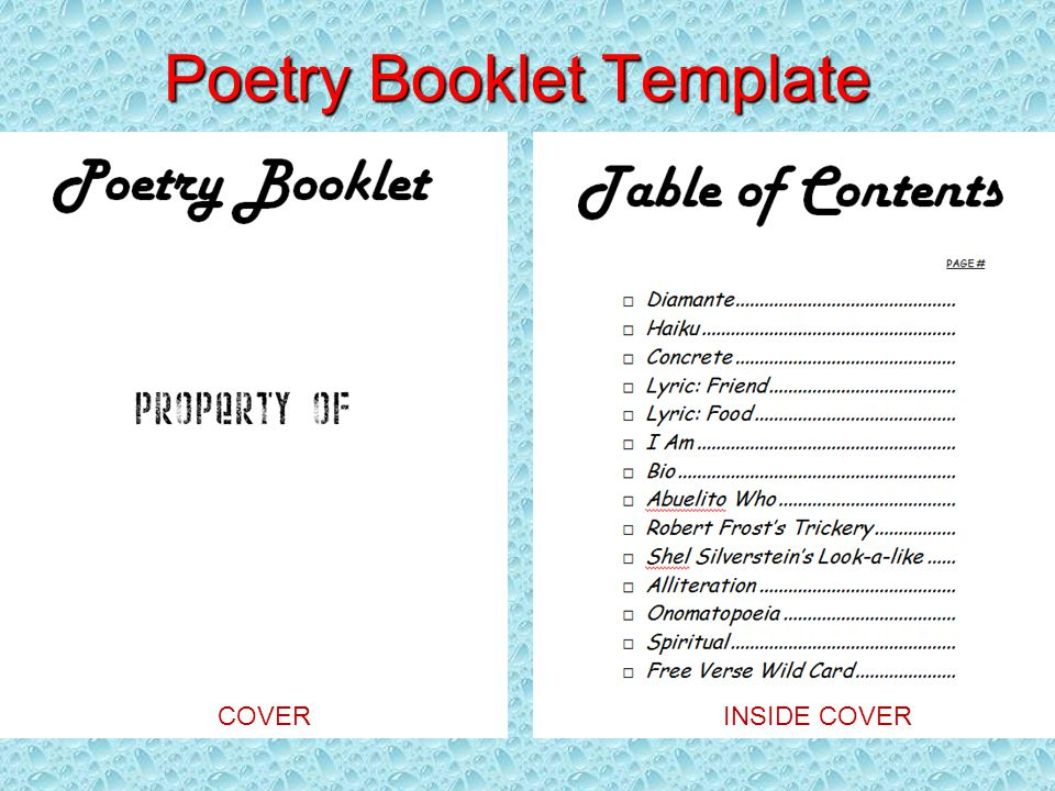 poetry booklet template - poetry poetry unit by matt bennie 2013 microsoft