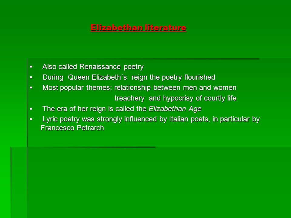 elizabethan poetry prose and drama ppt video online  2 elizabethan literature