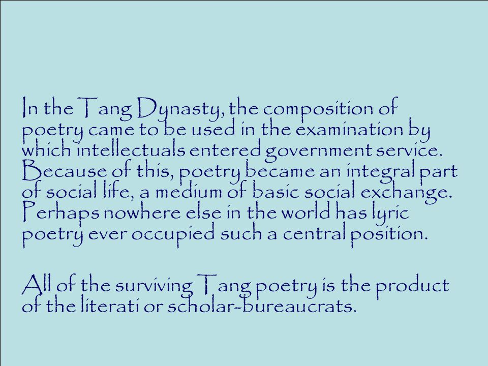 poets of the tang dynasty essay