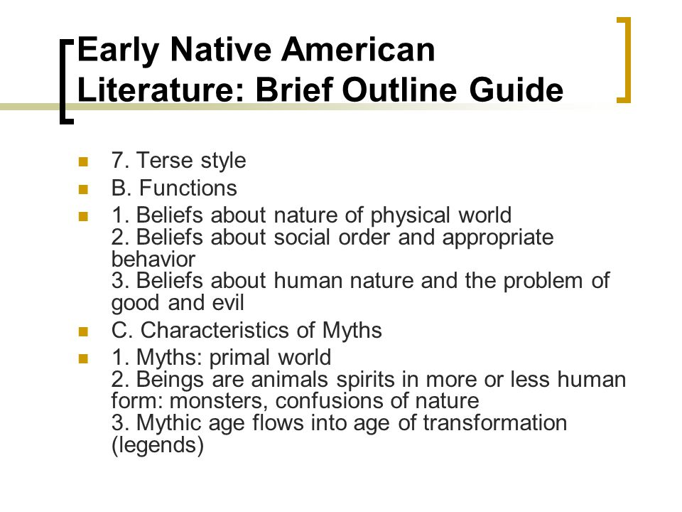 an introduction to native american literature essay Native american literature written in the 18th and 19th century is considered a literature of transition between the oral tradition which  new critical essays .