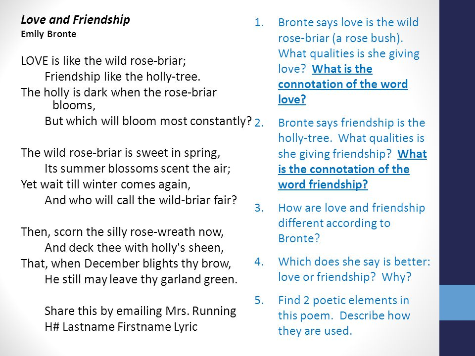 an essay about love and friendship Why is it that i can't be productive during the day but as soon as it hits midnight i can pound out essay after essay not fun desdemona love for othello essay.
