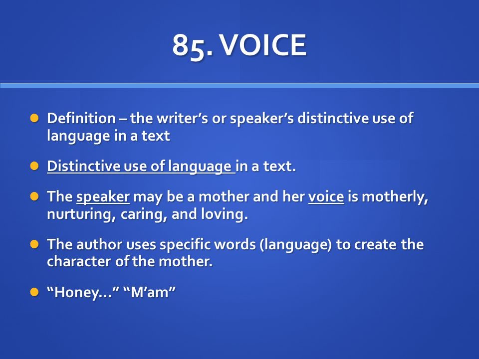 distinctive voices related text Related texts blog links defining defining distinctive voice the module asks you how language can be manipulated to generate distinctive voices within texts.