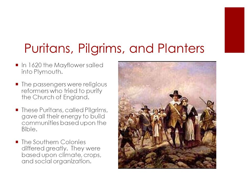 Puritans and planters