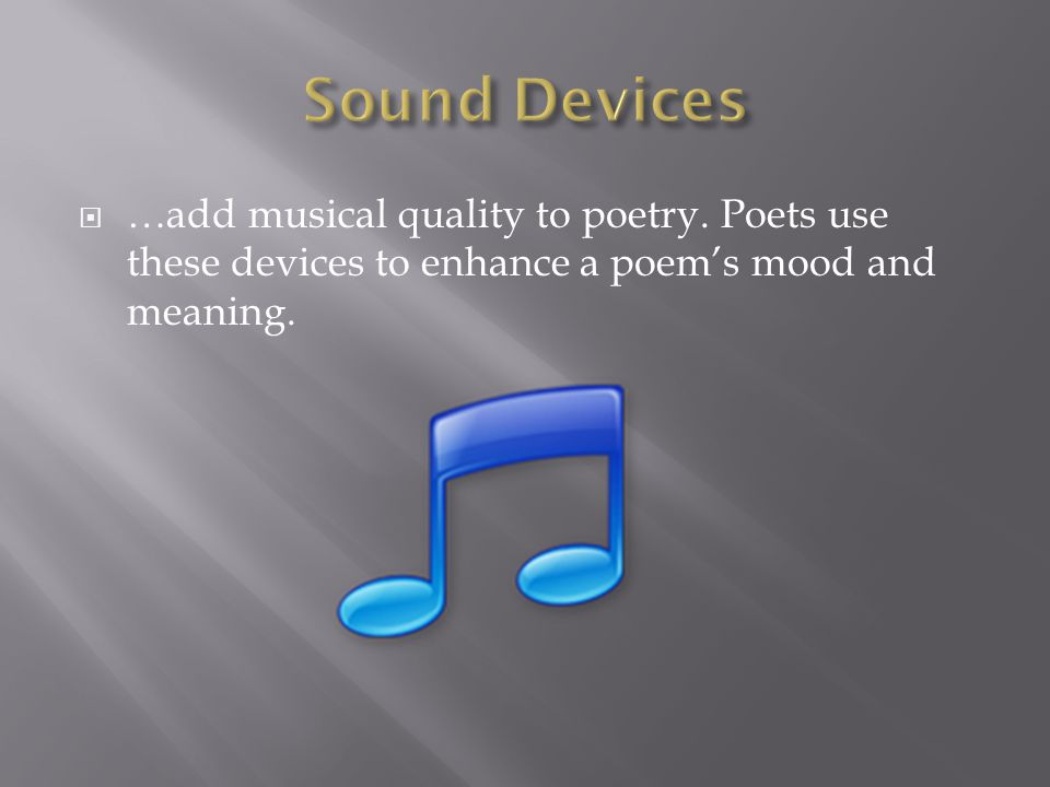 sound devices in ode on melancholy In john keats' ode on melancholy the word rain has a high frequency sound - a happier sound, whereas the word bow has a lower frequency sound.