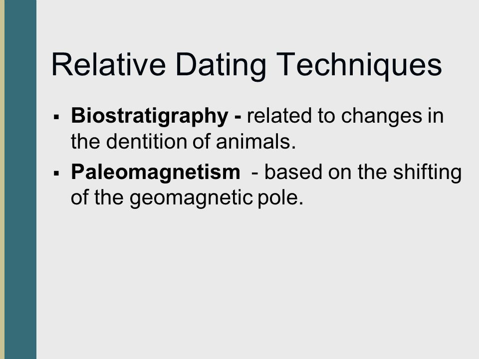 Types of relative dating techniques