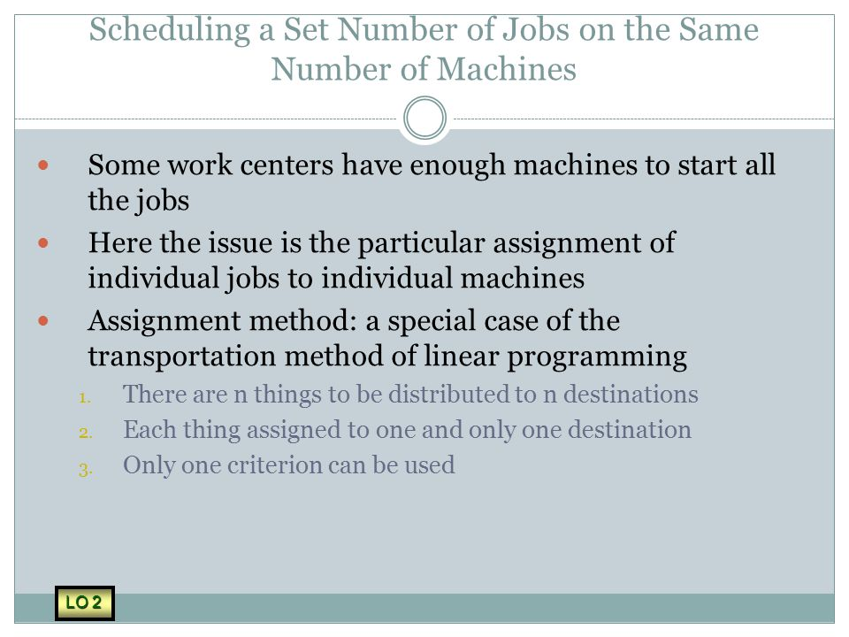 Scheduling a Set Number of Jobs on the Same Number of Machines
