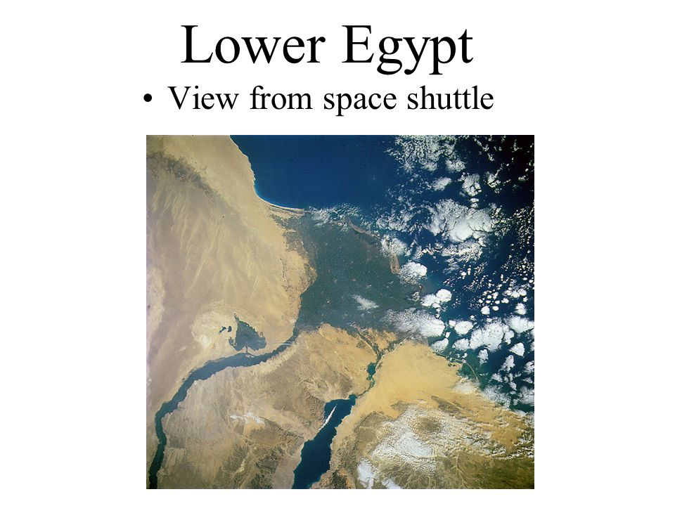 Lower Egypt View from space shuttle