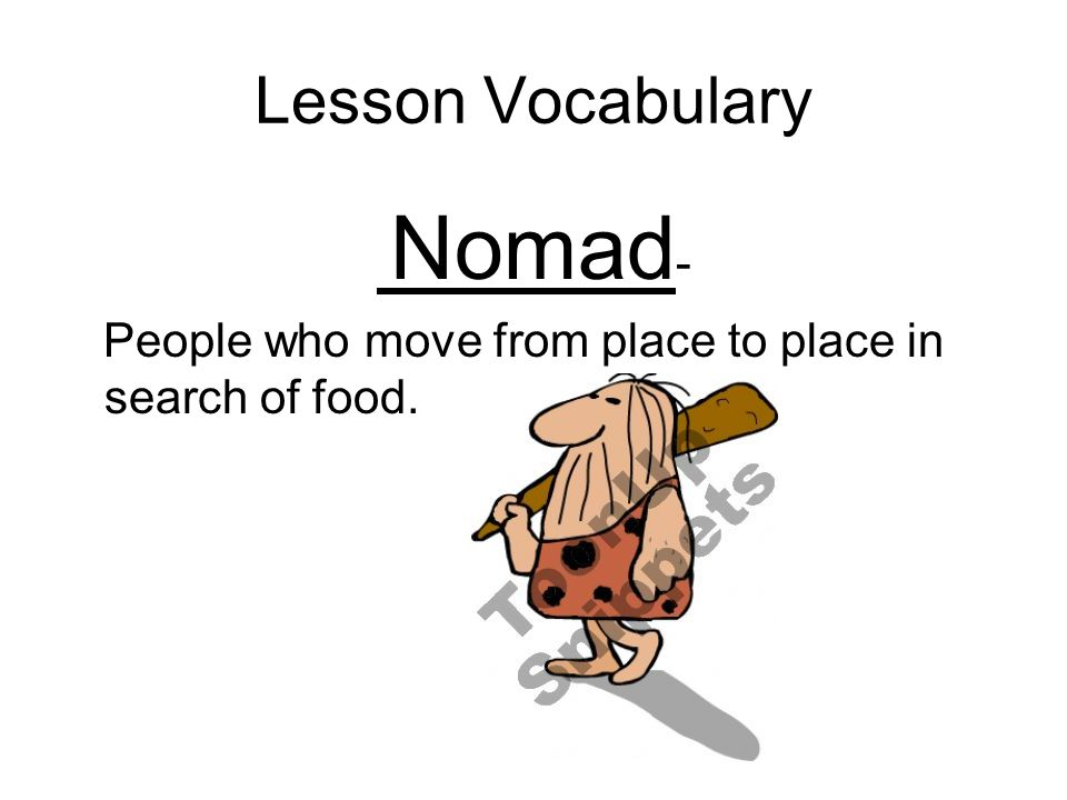 Lesson Vocabulary Nomad-