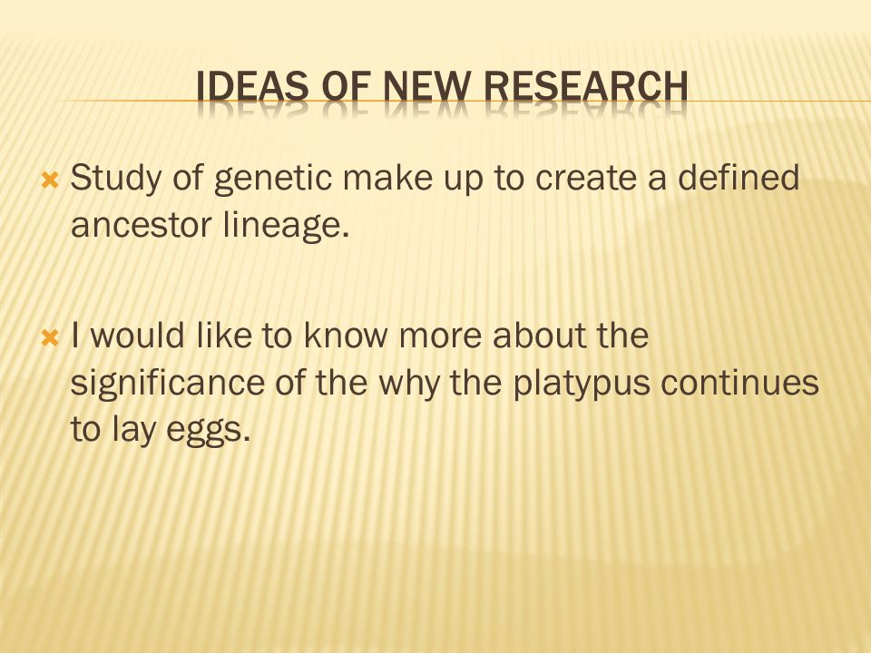 Ideas of New research Study of genetic make up to create a defined ancestor lineage.