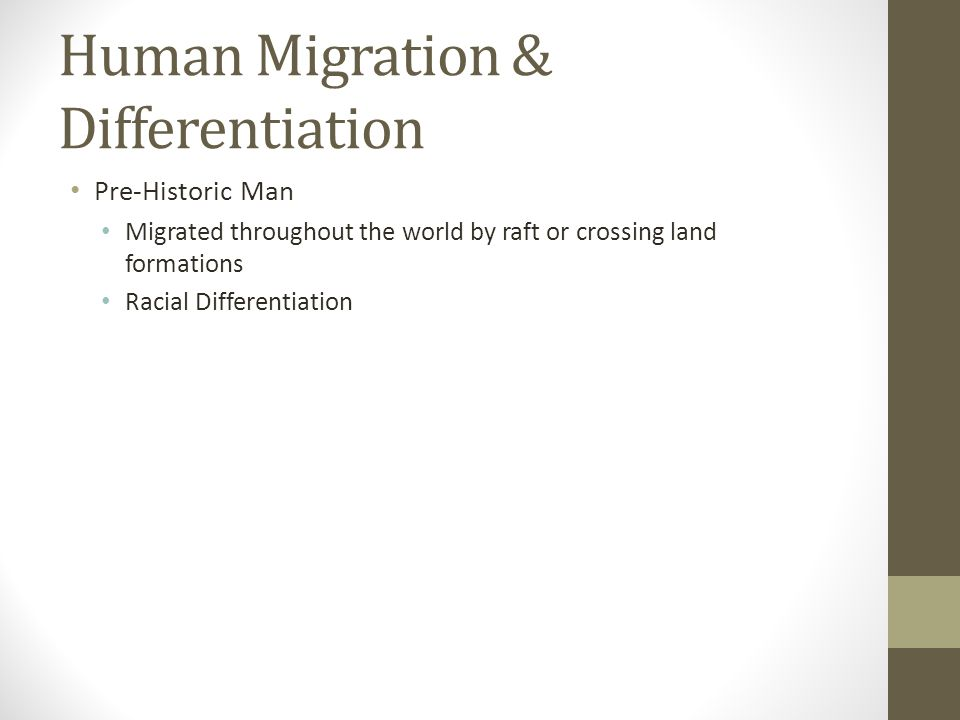 human migration and big cultural differences Human migration cultural geography  migrants who move longer distances tend to choose big-city  10/30/2014 human migration - wikipedia, the free encyclopedia.
