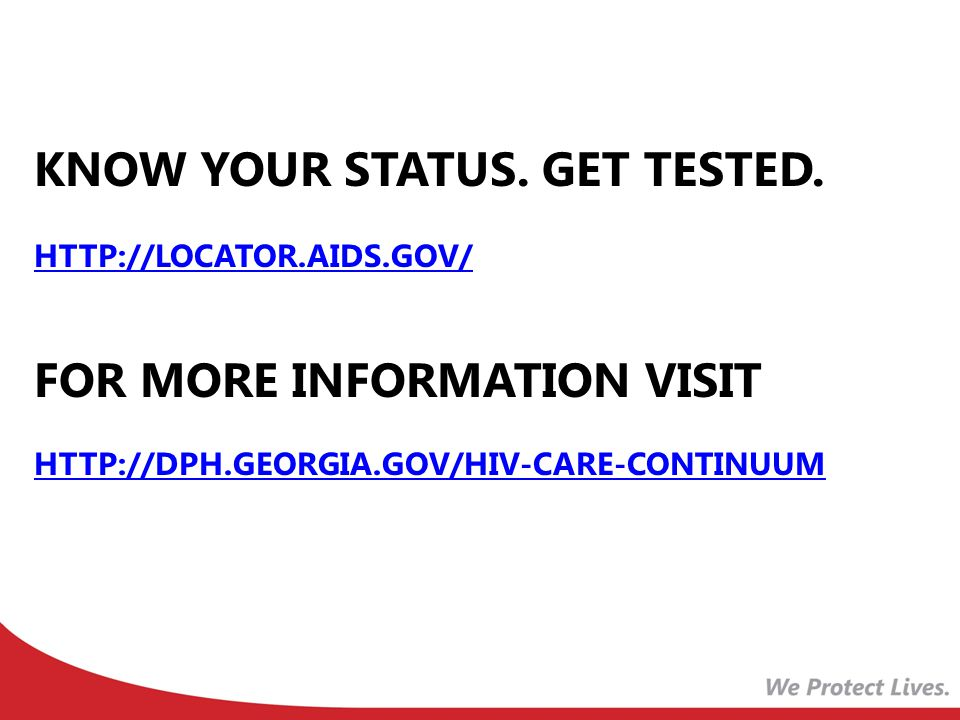 know your status. Get tested.   aids