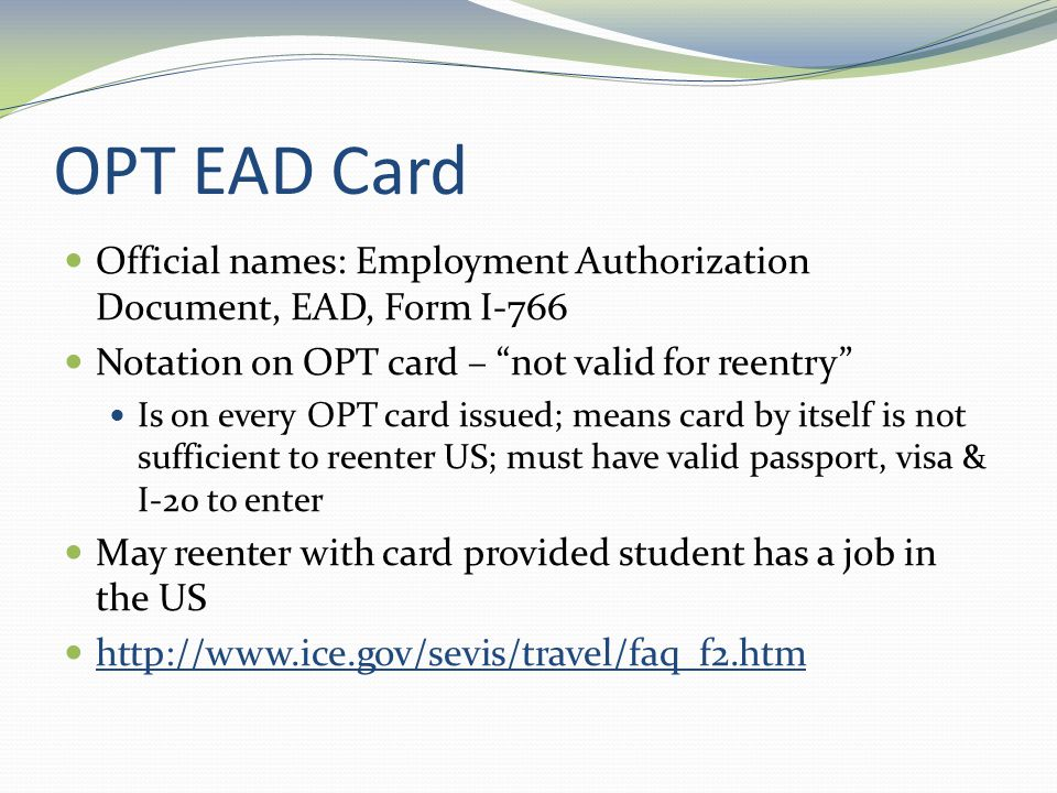 Optional Practical Training (OPT) (Post-completion)-- Employment ...