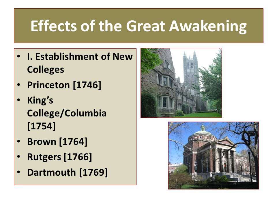 First Great Awakening