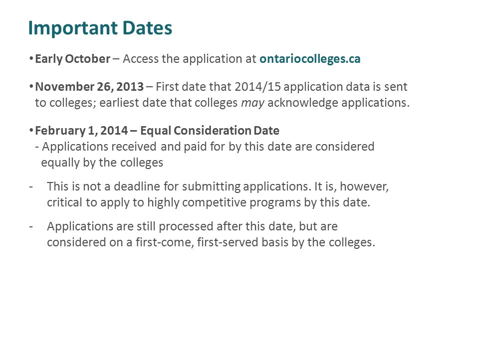 important due dates for ca
