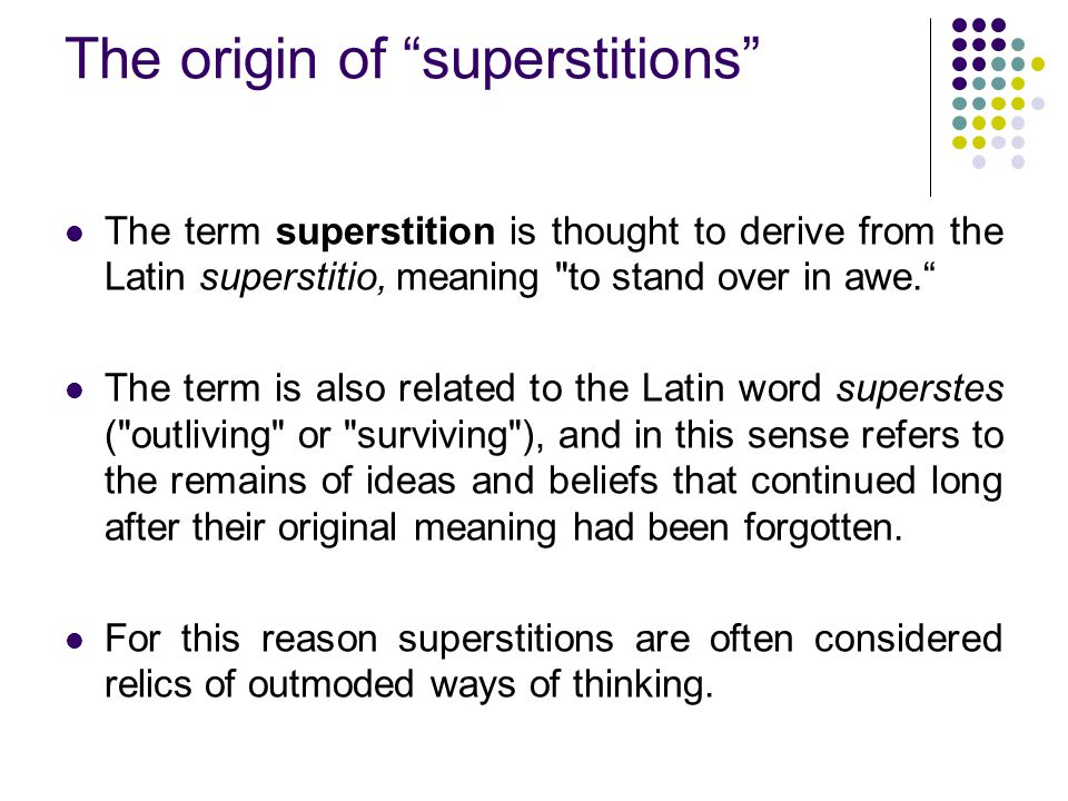 SUPERSTITION IN INDIA. - ppt video online download