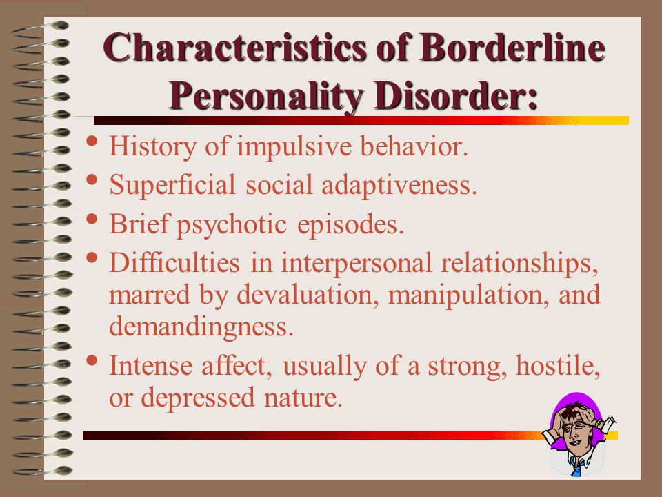 borderline personality disorder object relations perspective The narcissistic personality disorder involves  kelly's construct theory and object relations theory have been  borderline personality disorder often coexists.