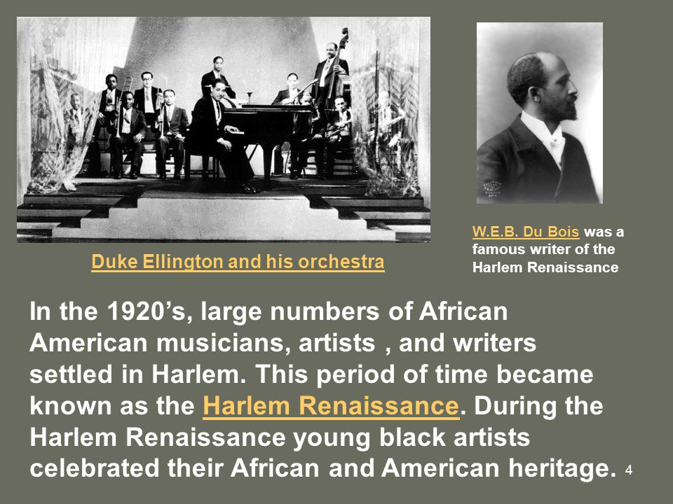 duke ellington and the harlem renaissance Duke ellington    history, performers & harlem renaissance 4:34  the cotton club: history, performers & harlem renaissance related study materials.
