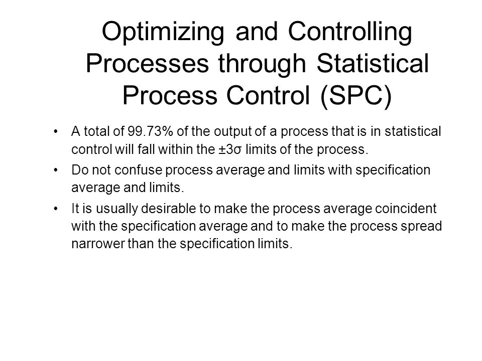 an analysis of the concept of the statistical process control spc Quality data analysis and statistical process control the process is said to be in statistical control pareto analysis and correlation methods the concept.