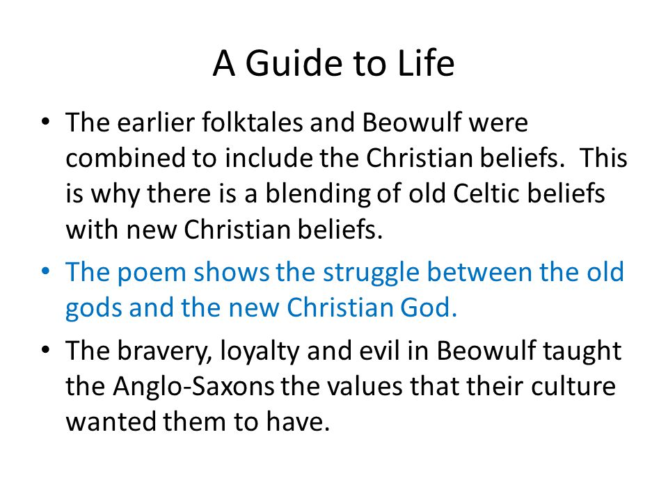 Christian Principles in Beowulf