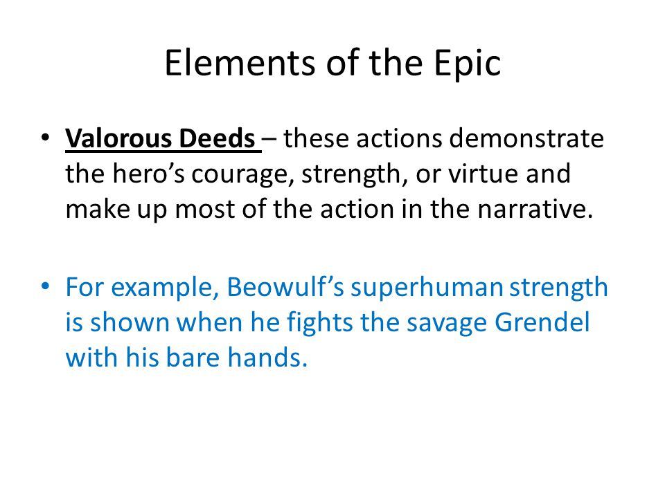 the element of honor in the epic of beowulf Beowulf: character & literary element analysis tri-folds + extras grades 7-12—40 pages explore the idiosyncrasies of the important characters and literary elements in the classic epic poem beowulf.