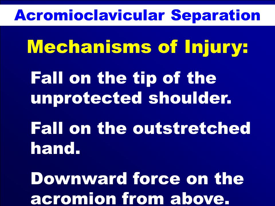 Acromioclavicular Separation