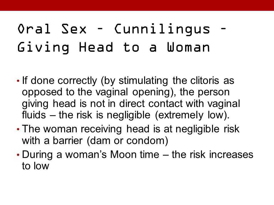 cunnilingus Risks of