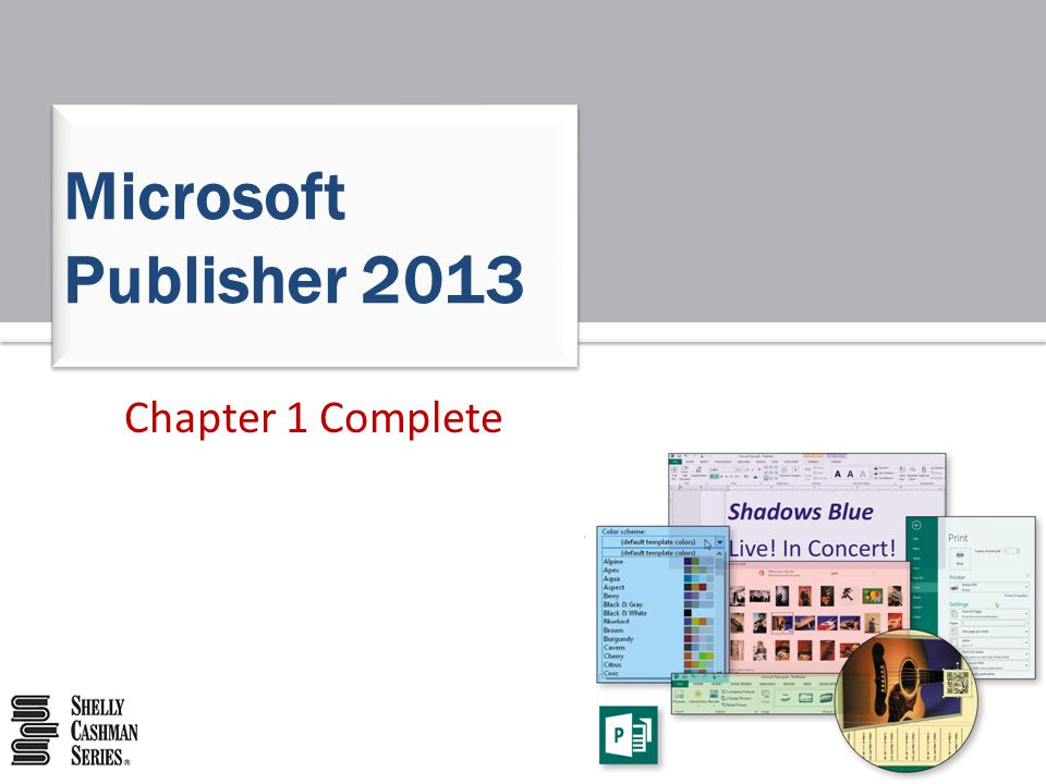 Microsoft Publisher 2013 Chapter 1 Complete
