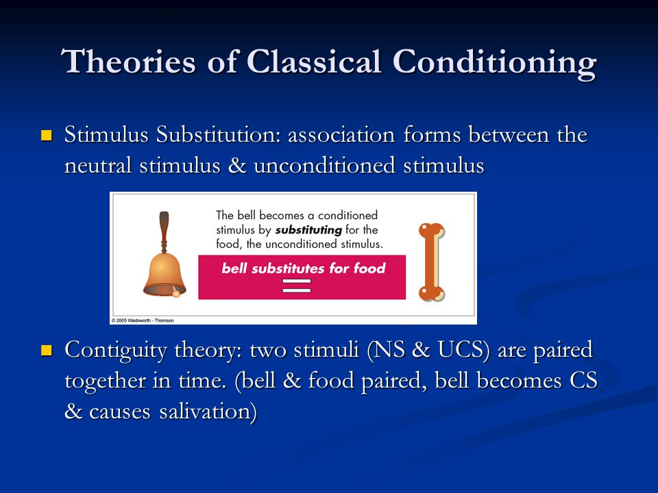 classical conditioning theory of learning pdf