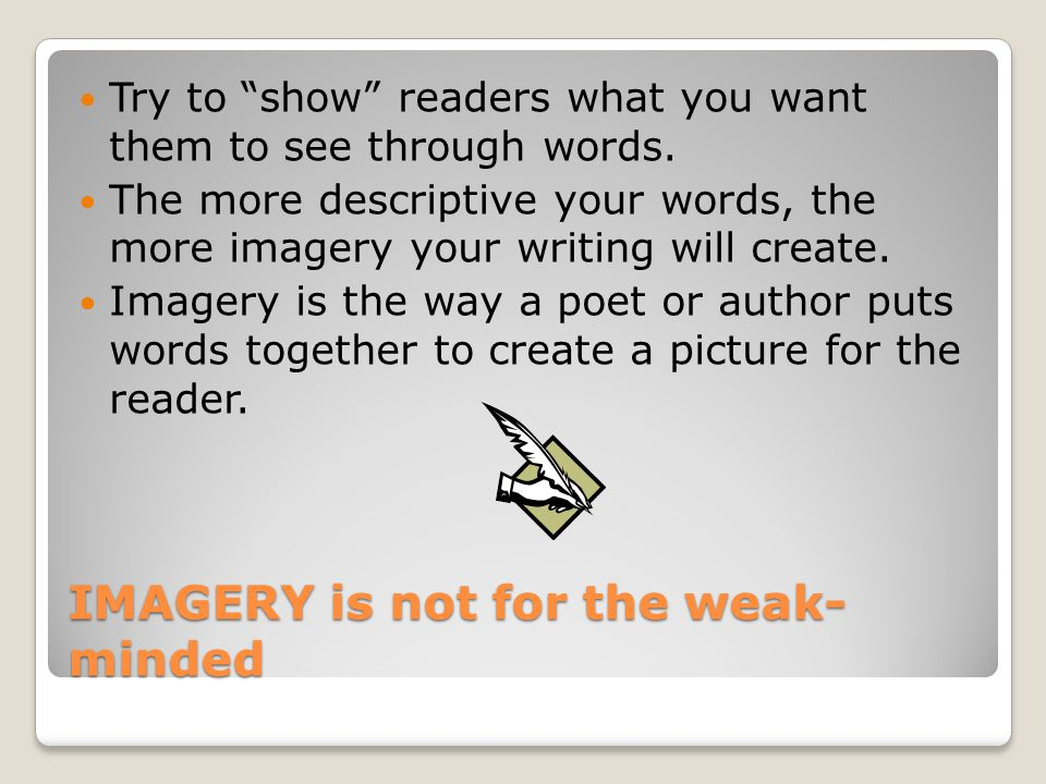 Sensory Imagery in Poetry - ppt download