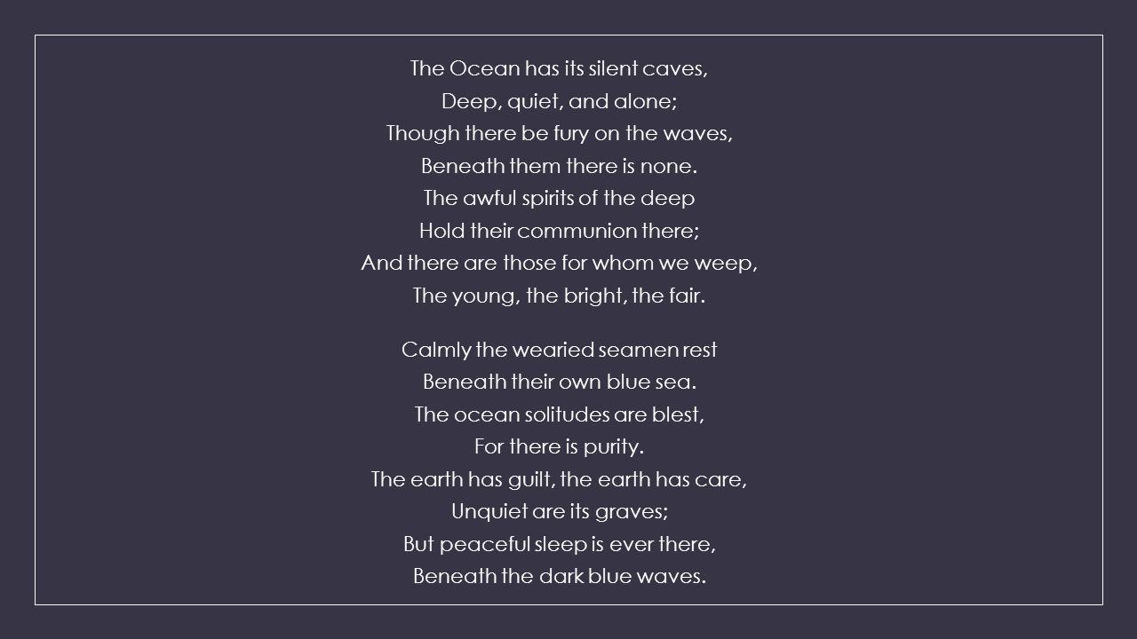 the ocean by nathaniel hawthorne