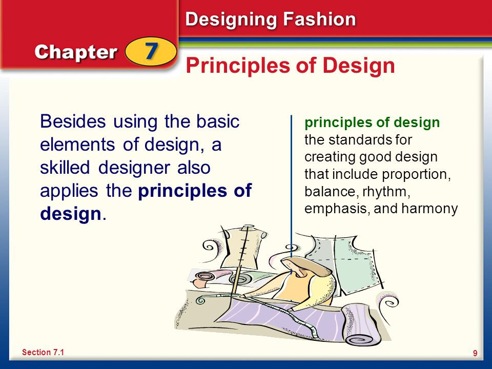 9 Principles Of Design : Chapter designing fashion the design process making