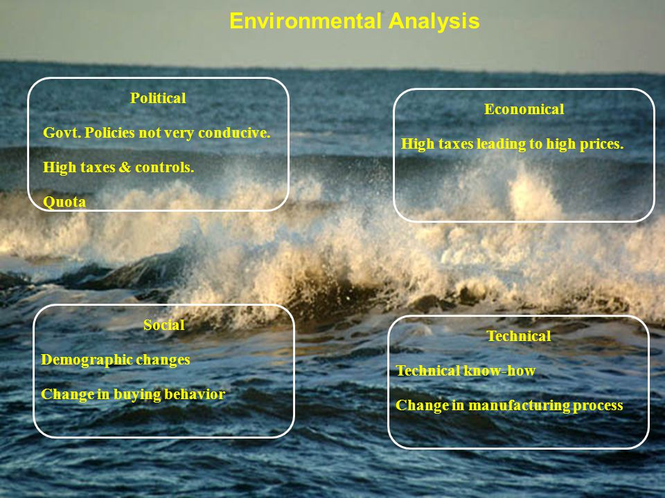 environmental case analysis Environmental scanning involves capturing information about the firm's external environment in terms of opportunities and threats it is a proactive exercise to.