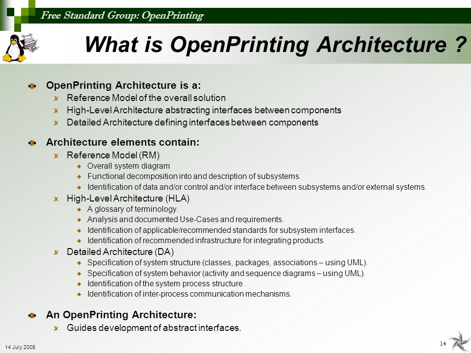 What is OpenPrinting Architecture