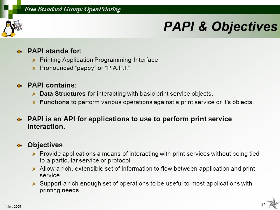 PAPI & Objectives PAPI stands for: PAPI contains: