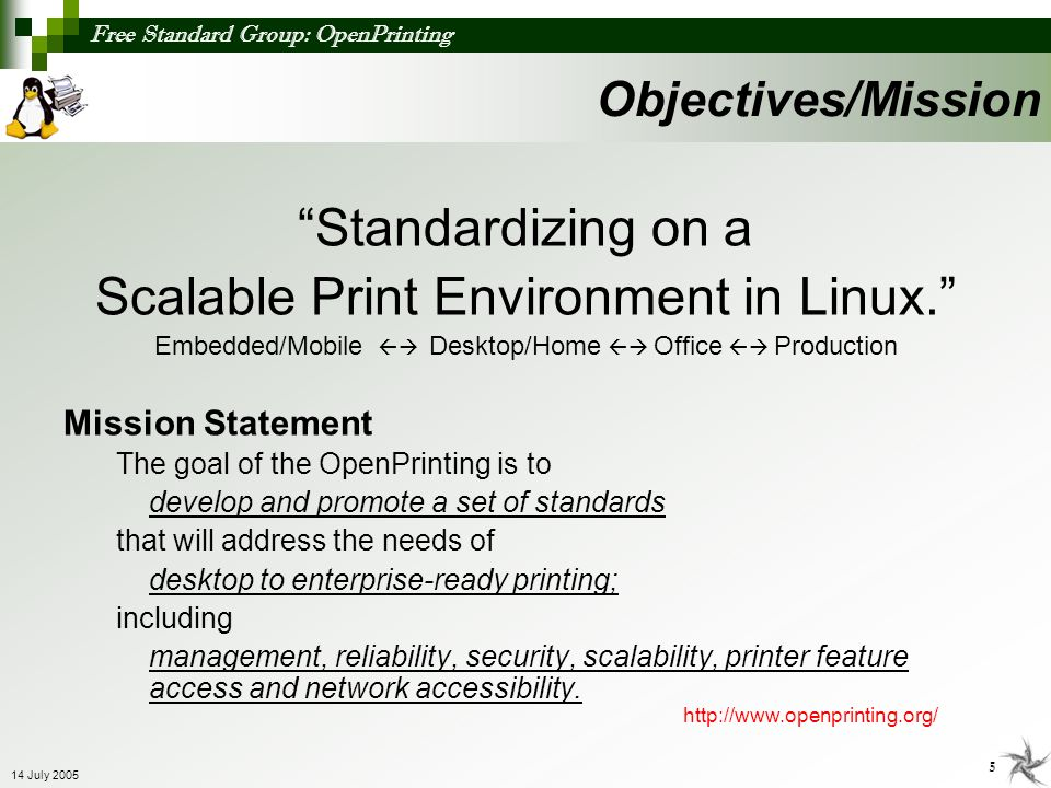 Scalable Print Environment in Linux.